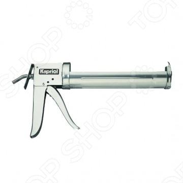 Пистолет для герметика KAPRIOL 25242Пистолеты для герметика и пены<br>Пистолет для герметика необходимая вещь при строительных и ремонтных работ. Корпус пистолета изготовлен из оцинкованной листовой стали, что обеспечивает максимальную долговечность. Удобная установка картриджа с герметиком происходит благодаря удобной форме самой модели. Подходит для картриджей объемом 300 мл диаметр - 50 мм .<br>