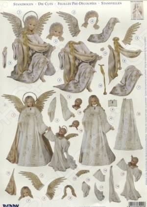 фото Аппликация вырубная для объемных рисунков Reddy Creative Cards «Золотой ангел» №3, купить, цена