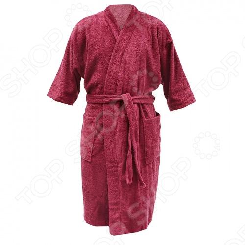 Халат махровый Банные штучки мужской вафельный халат банный м xxl цвет в ассортименте банные штучки 33356