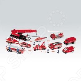 Набор машинок игрушечных Welly «Пожарная служба» 99610-20B игровой набор welly пожарная служба 3 шт н д красный 99610 3c
