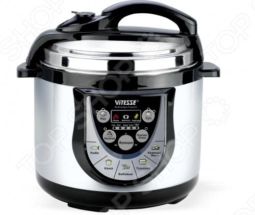 Мультиварка-скороварка Vitesse VS-511Мультиварки<br>Мультиварка-скороварка Vitesse VS-511 представляет собой кухонный прибор с электронным типом управления, который может не только готовить вкусную еду для вас и ваших близких в заданное время, но и сохранять блюда горячими благодаря режиму подогрев . Мультиварка-скороварка Vitesse VS-511 легко приготовит каши, супы, ароматную выпечку, потушит овощи, мясо, а внутренняя емкость с антипригарным покрытием не позволит пище пригореть. Еда, приготовленная в мультиварке-скороварке Vitesse VS-511, не только необычайно вкусна, но и полезна и питательна. А благодаря функции быстрого приготовления вы можете сэкономить массу своего драгоценного времени.<br>