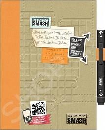 Папка Smash K Company Просто оранжевый окажется весьма полезной тем, кто любит создавать памятные вещи своими руками. С помощью этой папки вы сможете сами сделать памятный альбом или записную книжку. В папке с твердой обложкой находится 40 тематически оформленных страниц с памятными фразами на иностранном языке и ручка-клей Smash черного цвета.