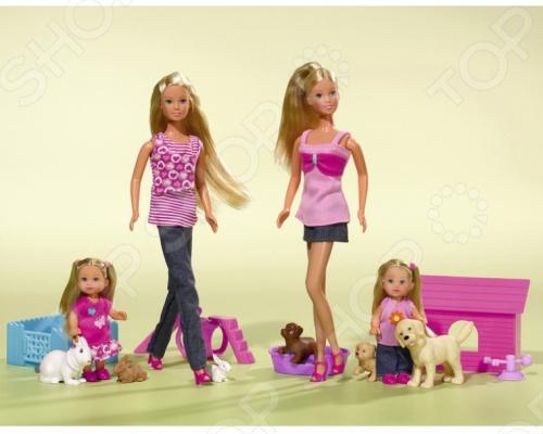Кукла штеффи с аксессуарами и животными Simba 5732156 simba машинка сортер с животными с 12 мес
