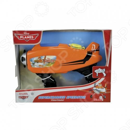 Оружие водное Simba СамолетыВодные пистолеты<br>Оружие водное Simba Самолеты отличный подарок для вашего ребенка. Игрушка выполнена в форме самолета и имеет дуло в виде пропеллера. А наличие двух рукояток позволит вашему малышу совершать максимально точные выстрелы. Модель водного оружия изготовлена из прочного пластика, безопасного для здоровья. Игрушка отлично подойдет для игры на свежем воздухе. Оружие водное Simba Самолеты легко в использовании и компактно.<br>
