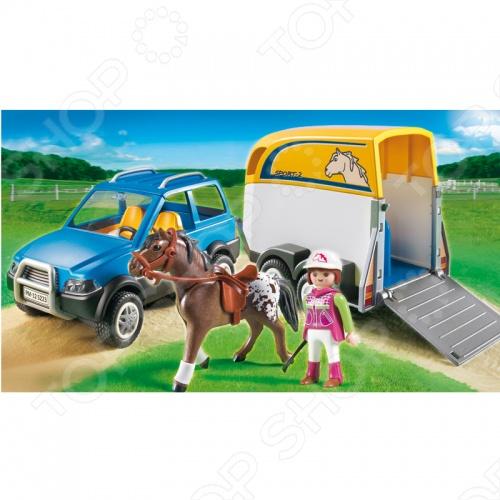фото Лошади:Джип с трейлером для перевозки лошадей Playmobil 5223 5223pm, Другие виды конструкторов