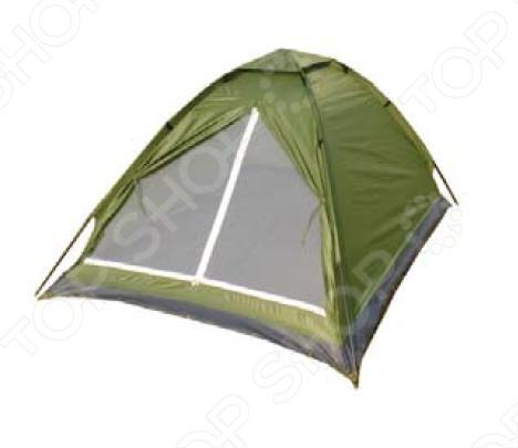 Палатка Boyscout однослойная палатка трехместная с тамбуром двухслойная boyscout 61080