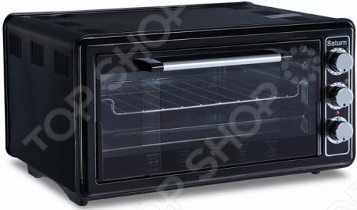 Мини-печь Saturn ST-EC 1077Настольные мини-печи<br>Мини-печь Saturn 1077 предназначена для приготовления блюд, поджаривания на гриле, выпечки и подрумянивания уже готовых блюд. Печь имеет 3 режима нагрева: верхний, нижний, комбинированный. Регулируемый термостат до 320 0С позволит задать нужную температуру. Таймер на 90 минут с функцией автоотключения позволит вам заниматься другими делами во время приготовления. Об окончании приготовления вас известит специальный сигнал. Благодаря регулировке высоты противня, вы можете готовить объемные продукты, например, целого цыпленка.<br>