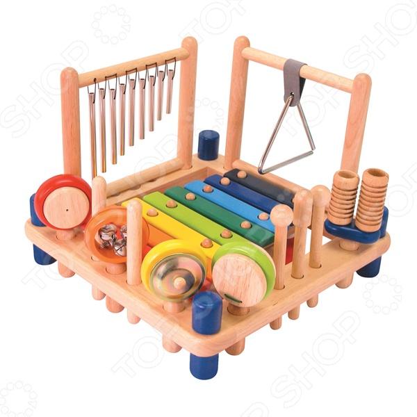 Набор развивающий Im toy «Музыкальные инструменты»Другие развивающие игрушки и игры<br>Набор развивающий I 39;m toy Музыкальные инструменты универсальная игрушка для развития музыкального слуха у вашего малыша. Ребенок сможет выучить всё необходимое для школьной программы. Возможно ему понравится инструмент и начнет придумывать свои мелодии. Проводите ваше время с ребенком, с весельем и пользой, сделайте из учебы игру. Набор состоит из:  ксилофона с 8 клавишами  большого барабана  цимбал  маракас  трещотки  кастаньет  треугольника,  металлической трубочки издающие мелодичный звон при прикосновении к ним  5 деревянных палочек с разными наконечниками.<br>