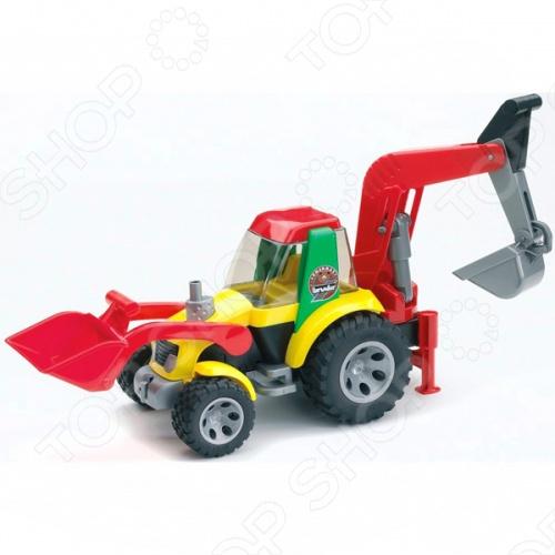 Экскаватор-погрузчик Bruder Roadmax 20-105 машины bruder погрузчик roadmax с ковшом и разрыхлителем