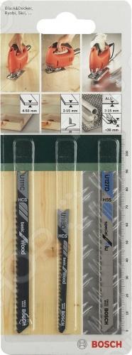Набор пильных полотен Bosch SET U-ХВ 2609256774 пилки для лобзика по металлу для прямых пропилов bosch t118a 1 3 мм 5 шт