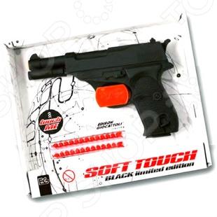 Пистолет с пистонами Edison Giocattoli Eaglematic edison игрушечный пистолет с пистонами eaglematic серия soft touch 17 5 см