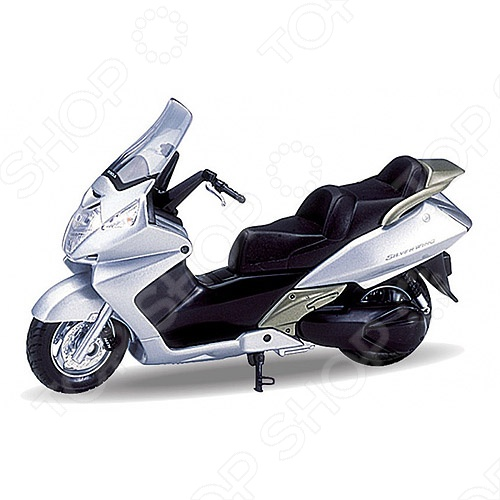 Модель мотоцикла 1:18 Welly Honda Silver Wing. В ассортименте