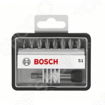 Набор бит Bosch Max Grip S, ISO 1173 C6.3 бит bosch pz2 х25мм 25шт max grip tictac box 2 608 522 274