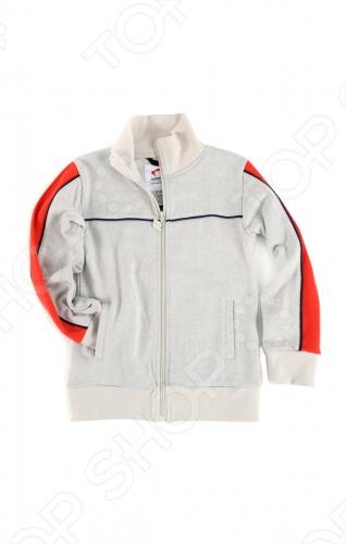 Куртка спортивная для мальчика Appaman Track Jacket. Цвет: серыйВерхняя одежда<br>Спортивная куртка для мальчика Appaman Track Jacket сочетает активный стиль с легкой атмосферой винтажа. Эта спортивная куртка выполнена из натурального хлопка, поэтому она дышащая, комфортная и легкая. Удобные прорезные карманы и застежка на молнии делают ее идеальной вещью для ежедневного детского гардероба. Состав: 100 хлопок. Американский бренд Appaman основан в 2003 году дизайнером Харальдом Хузуме. Он создает уникальные наряды в стиле AMERIPOP. Хузум находит вдохновение на улицах Бруклина, работая над многообразной палитрой ярких одежд. Воплощая свои творческие проекты, дизайнер не забывает об удобстве и качестве детских вещей. Вы считаете, что наряд Вашего ребенка должен быть не только удобным, но также стильным и индивидуальным Тогда бренд Appaman для Вас!<br>