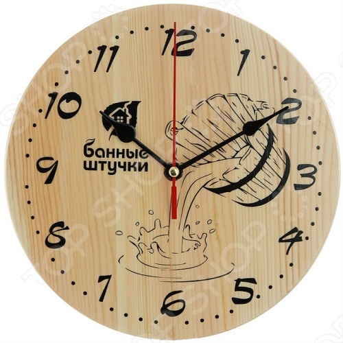 18039 Часы кварцевые для бани и сауны Банные штучки