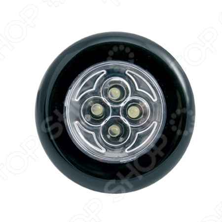 Светильник светодиодный СТАРТ PL-4led можно расположить в любом удобном месте, ведь он крепится к гладкой поверхности благодаря сильному клеевому покрытию. Четыре светодиодные лампы ярко освещают помещение, потребляя при этом совсем мало энергии. Светильник светодиодный СТАРТ PL-4led более безопасен в использовании, экологичен при утилизации и практически не выделяет тепла при работе. Для включения нажмите на центральную часть лицевой поверхности. Светильник работает от 3 элементов питания типа ААА. Замена элементов питания не требует инструментов, достаточно просто повернуть корпус относительно основания против часовой стрелки. Элементы питания в комплект не входят.