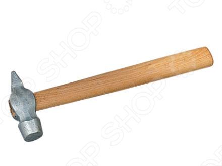 Молоток слесарный с деревянной рукояткой, круглый боек