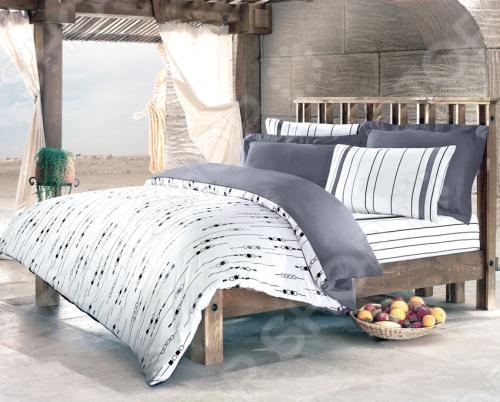 Выполненный в изящном сочетании белого и черного цветов, двуспальный комплект постельного белья Tete-a-Tete Николетта произведет на вас отличное впечатление своей необыкновенной тонкостью, почти воздушной легкостью и невероятной шелковистостью ткани, которая еще усилится после стирки. Пододеяльники Tete-a-Tete Николетта имеют молнию на нижнем конце пододеяльника. Молния оснащена фиксаторами, не позволяющим ей расстегиваться до самого конца. Она обладает высокой прочностью и состоит из одной эргономичной детали, что срок службы изделию. Ненавязчивые цвета хорошо примут наложение любого другого оттенка, при разном освещении. Ваша постель будет выглядеть безупречно. Наволочки имеют клапан без пуговиц и молнии. Свойства изделия: 100 хлопок, плотность 155 г м2. Все предметы комплекта цельнокроеные.