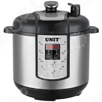Скороварка-коптильня Unit USP-1220SМультиварки<br>Мультиварка Unit USP-1220S поможет вам готовить вкусно, быстро, а главное полезно. Прибор сочетает в себе функции различных устройств мультиварки, скороварки и коптильни. Он станет хорошим вариантом для тех, кто не представляет свою жизнь без копченостей и постоянно покупает их в супермаркете, ведь теперь любимые вкусности можно будет запросто приготовить дома. Специальные программы копчения позволяют закоптить различные продукты: сыры, овощи, рыбу, мясо. Коптильня-мультиварка Unit USP-1220S дарит вам прекрасную возможность отказаться от магазинных копченых деликатесов, которые могут быть приготовлены зачастую с применением жидкого дыма . Прибор поможет вам получить вкусные натуральные копчености в домашних условиях. Для придания особого аромата продуктам при приготовлении в коптильне-мультиварке вы можете добавить щепу разных деревьев: березы, ольхи, осины, бука, вишни, груши или яблони. Коптильня-мультиварка Unit USP-1220S комплектуется различными аксессуарами, необходимыми для комфортного применения прибора. Все, что потребуется для приготовления входит в набор. Так, есть две чаши с керамическим покрытием. Одна из них служит для приготовления традиционных блюд, вторая для копчения. Также в комплект коптильни-мультиварки входят щепа для копчения и специальный контейнер для нее. Для приготовления на пару имеется специальная решетка. Мерный стаканчик, входящий в комплект, позволяет отмерить необходимые ингредиенты в полном соответствии с рецептом, а в подробной инструкции с рецептами вы сможете узнать о новых идеях для приготовления вкусных блюд.<br>