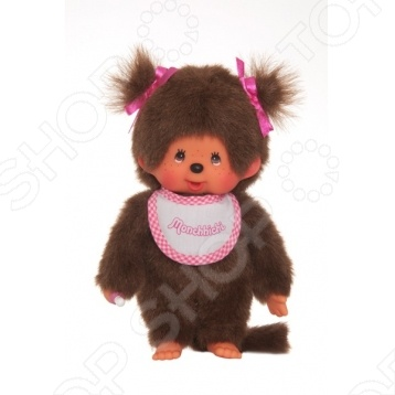 Мягкая игрушка Sekiguchi Девочка в слюнявчике с двумя хвостиками стоимость