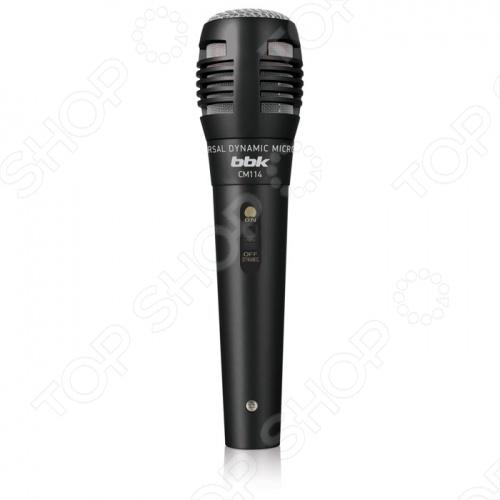 Микрофон BBK CM114 прекрасный выбор для любителей караоке. Модель обеспечивает высокое качество звучания за счет снижения уровня посторонних акустических шумов. Микрофон подходит для использования практически с любой караоке-системой. В комплекте к микрофону прилагается соединительный кабель длиной 2,5 метра и переходник Jack - Mini-jack.