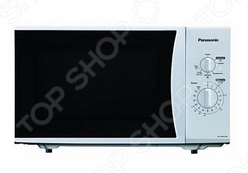 Микроволновая печь Panasonic NN-SM332WZPE - простая и надежная модель. С ее помощью вы быстро и равномерно разогреете готовую пищу, а также приготовите самые разнообразные блюда. Для управления прибором предусмотрены два поворотных переключателя. Один отвечает за выбор режима, а второй за время приготовления. Дверца удобно открывается при помощи специальной кнопки. Микроволны распределяются равномерно по всему объему, поэтому еда разогреется одинаково как внутри, так и снаружи. Режим разморозки поможет за несколько минут разморозить продукты. Внутренняя подсветка и смотровое окно дают возможность наблюдать за происходящим внутри процессом. Если вы промахнулись с режимом и что-то пошло не так, то прервать работу можно в любой момент. Эмалированная поверхность микроволновой печиPanasonic NN-SM332WZPE легко чистится от загрязнений, поэтому уход за прибором не доставит вам хлопот. В случае нехватки времени, устройство поможет вам быстро перекусить.