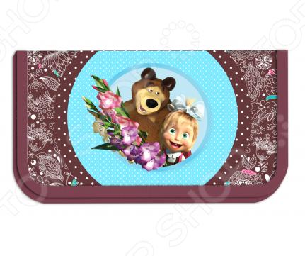 Пенал Маша и Медведь «Бирюза» 22103