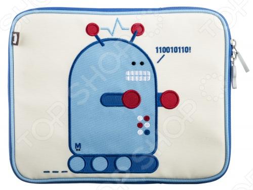 Чехол для планшета Beatrix New York Робот ПиксельЗащитные чехлы для других планшетов<br>Яркий и удобный чехол для планшета Beatrix New York с вышитой аппликацией. Держит планшет в безопасности! Внутри водонепроницаемая, мягкая, бархатистая подкладка, выполненная на 85 из нейлона и на 15 из парусина. Экологичен: в составе материалов не содержится свинца, фталатов, ПВХ. Поэтому он полностью безопасен для здоровья!<br>
