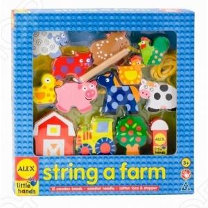 Игра развивающая Alex «Домик в деревне» alex развивающая игра шнуровка домик в деревне