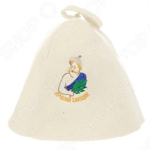 Шапка Банные штучки «Лучший банщик» шапка для бани и сауны банные штучки банщик года