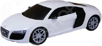 Модель машины на радиоуправлении 1:24 Welly Audi R8 V10 представляет собой модель, являющуюся точной копией настоящего автомобиля. Большая достоверность и похожесть настоящего транспортного средства обеспечивается наличием всех деталей, которые есть в реальной жизни: зеркалами заднего вида, выхлопной трубой, фарами, открывающимися дверями. Она будет прекрасным подарком для вашего малыша, так как это не только игрушка, но и полезная вещь, во время игры с которой у ребенка развивается мелкая моторика рук, воображение и фантазия.