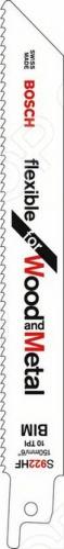 Набор пилок сабельных Bosch S 922 HF пилки для лобзика по металлу для прямых пропилов bosch t118a 1 3 мм 5 шт