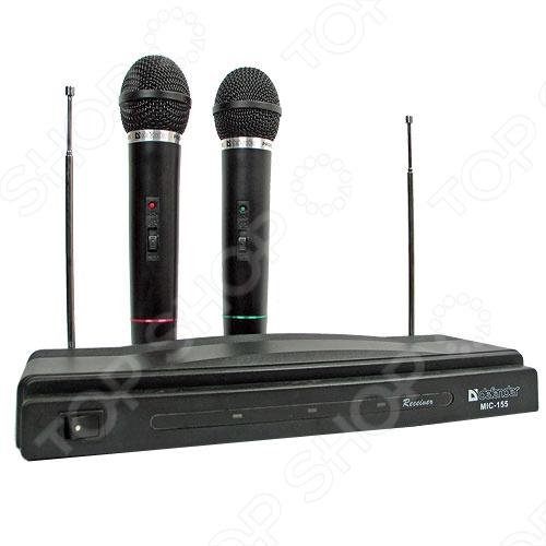 Набор беспроводных микрофонов для караоке Defender MIC-155 микрофон defender mic 142 64142