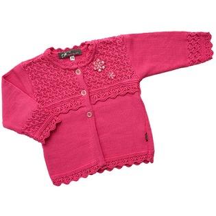 Купить Болеро детское для девочек EKO «Цветочек». Цвет: фуксия