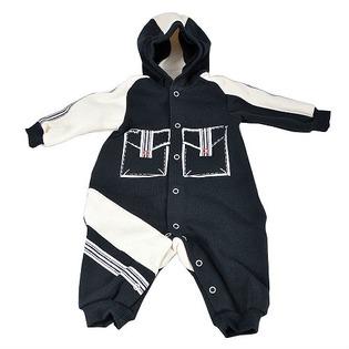 Купить Комбинезон для новорожденных с капюшоном Ёмаё. Цвет: синий