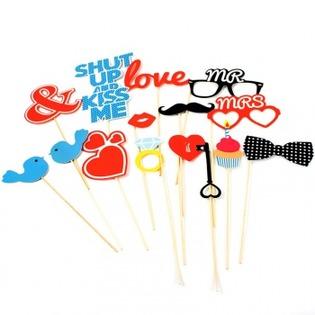 Купить Набор из 15 элементов для вечеринки Doiy Love Booth