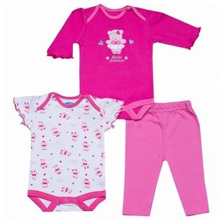 Купить Комплект для девочки: боди с длинными и короткими рукавами и леггинсы Bon Bebe FAR-3176G1