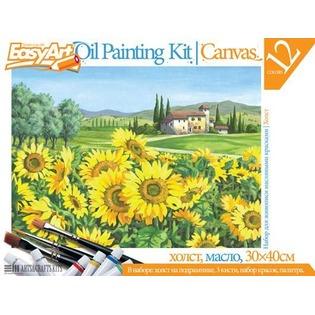 Купить Набор для живописи масляными красками EasyArt №3 «Подсолнухи»