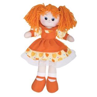 Купить Мягкая кукла Gulliver Апельсинка в платье с сердечками