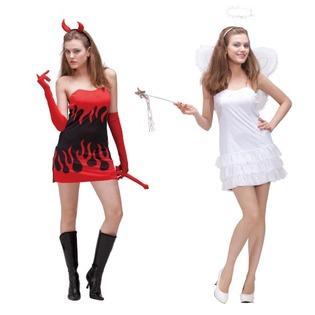 Купить Костюм карнавальный женский Шампания «Ангел и Дьявол» 2 в 1