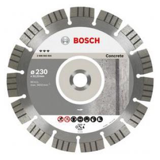 Купить Диск отрезной алмазный для угловых шлифмашин Bosch Best for Concrete 2608602652