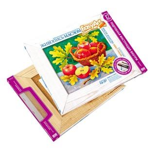 Купить Набор для живописи масляными красками EasyArt Холст «Осенний натюрморт»