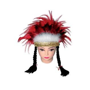 Купить Шапка Шампания «Индейская с косами»