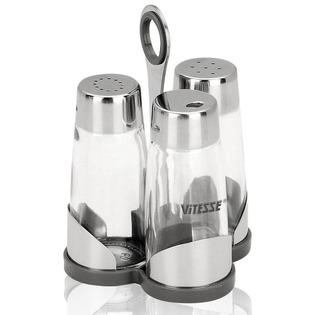 Купить Солонка и перечница с держателем для зубочисток Vitesse Classiс VS-8607