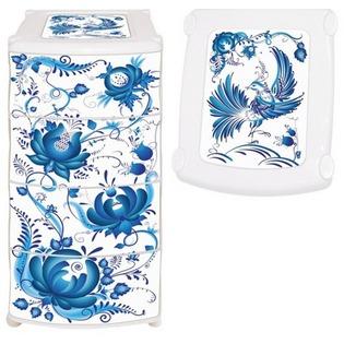 Купить Комод Violet 0352 «Гжель»