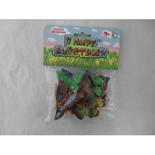 Купить Фигурки насекомых 1 Toy «В мире животных. Бабочки»