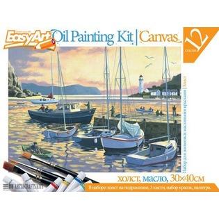 Купить Набор для живописи масляными красками EasyArt №5 «Вечерняя гавань»