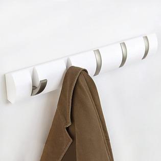 Купить Вешалка настенная горизонтальная с 5-ю крючками Umbra Flip