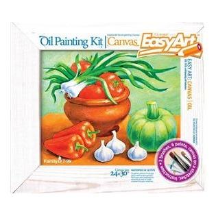 Купить Набор для живописи масляными красками EasyArt Холст «Дары природы»