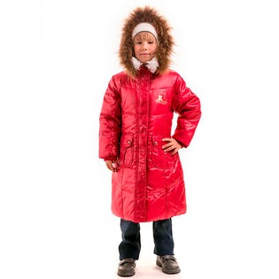 Купить Пальто детское для девочки Sp-Show ЯВ115063. Цвет: красный